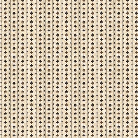 Chocolate Spade Stripes fabric by siya on Spoonflower - custom fabric