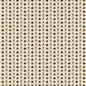 Chocolate Spade Stripes