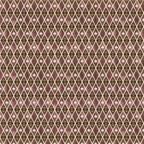 Jester of Chocolate Spades fabric by siya on Spoonflower - custom fabric