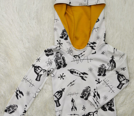 Black and White Retro Space