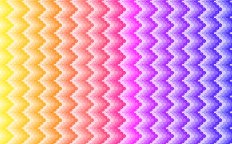 knobbly zigzag - rainbow fabric by sef on Spoonflower - custom fabric