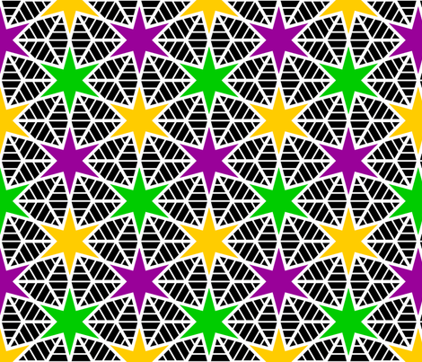 R6 E2r web of stars (inverse) fabric by sef on Spoonflower - custom fabric