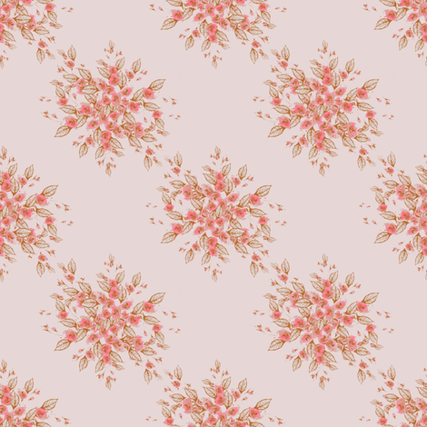 Roses Antique Dainty pink fabric by joanmclemore on Spoonflower - custom fabric