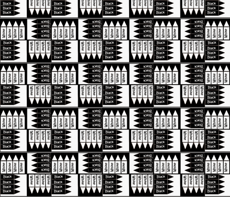 Black and White Crayons fabric by iloveyou on Spoonflower - custom fabric