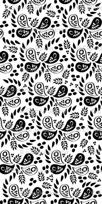Black and White Paisleys