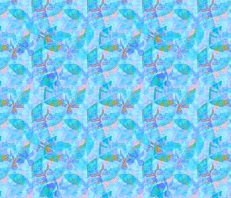 © 2011 Orchid Dreams the Blues fabric by glimmericks on Spoonflower - custom fabric