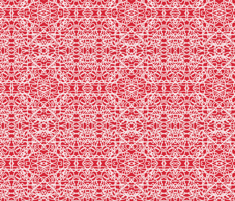 Random rope on red by Su_G fabric by su_g on Spoonflower - custom fabric