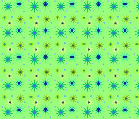 Greeny stars fabric by vidaliah on Spoonflower - custom fabric