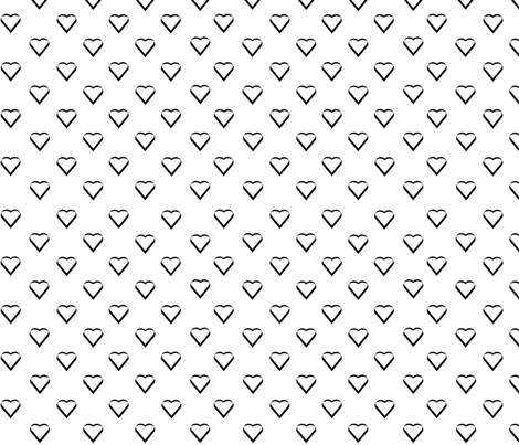 hearts galore fabric by butterfly_meadows on Spoonflower - custom fabric