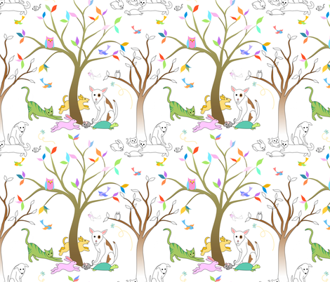 Rainbow Bridge - author unknown fabric by vo_aka_virginiao on Spoonflower - custom fabric