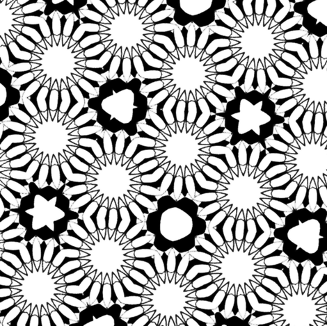 BnW_sunflower2 fabric by craftyheffalump on Spoonflower - custom fabric