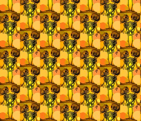 Siamese Twin Skeleton fabric by vidaliah on Spoonflower - custom fabric