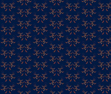 Koi in Deep Blue fabric by robin_rice on Spoonflower - custom fabric