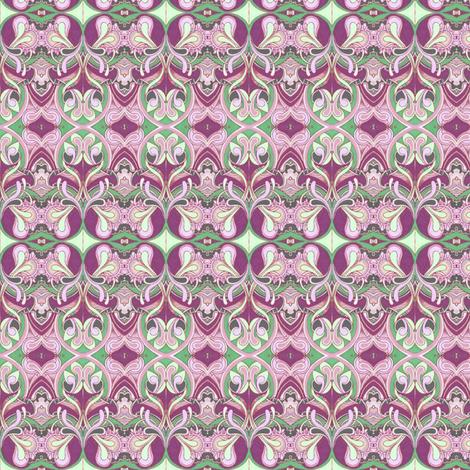 Honeysuckle nouveau magenta fabric by edsel2084 on Spoonflower - custom fabric