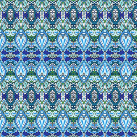 The Deco Lotus Experience fabric by edsel2084 on Spoonflower - custom fabric