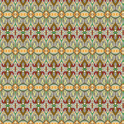 Modern Stained Glass Window stripes fabric by edsel2084 on Spoonflower - custom fabric