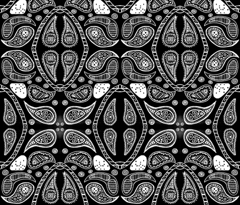 bw_paisley1 fabric by jkayep2 on Spoonflower - custom fabric