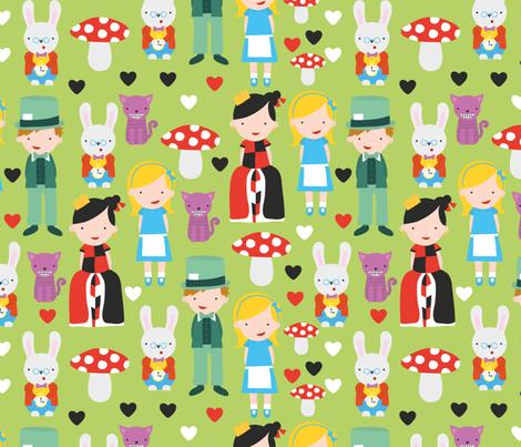 Alice in Wonderland fabric by ankepanke on Spoonflower - custom fabric