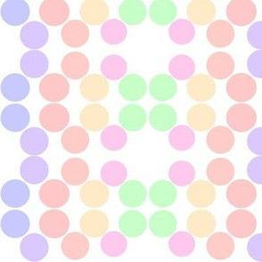 Lighty colored dots