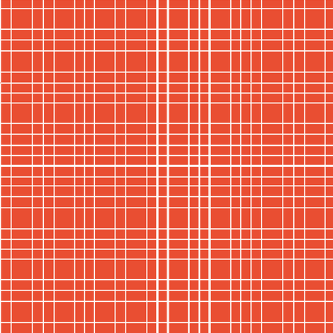 Persimmon Grid fabric by m0dm0m on Spoonflower - custom fabric