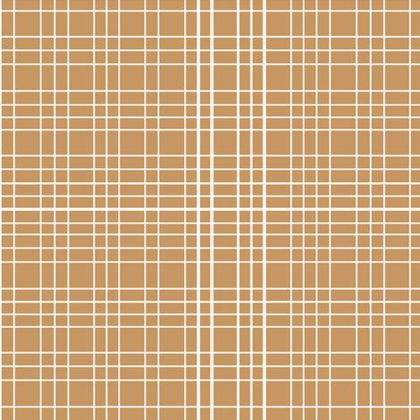 Latte Grid fabric by m0dm0m on Spoonflower - custom fabric