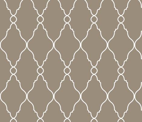 Mirror Mirror on Dark Mushroom (Slate/Brown) fabric by katphillipsdesigns on Spoonflower - custom fabric