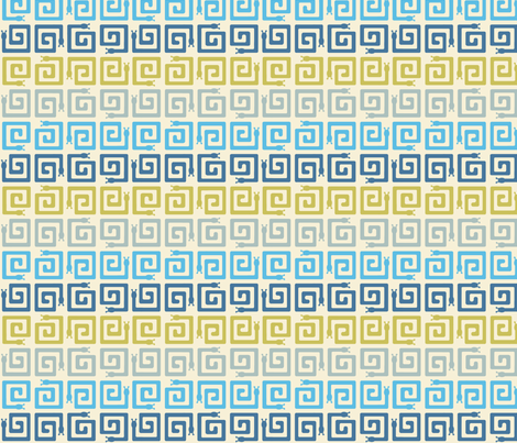 SNAIL MAZE in MULTI BLUES fabric by trcreative on Spoonflower - custom fabric