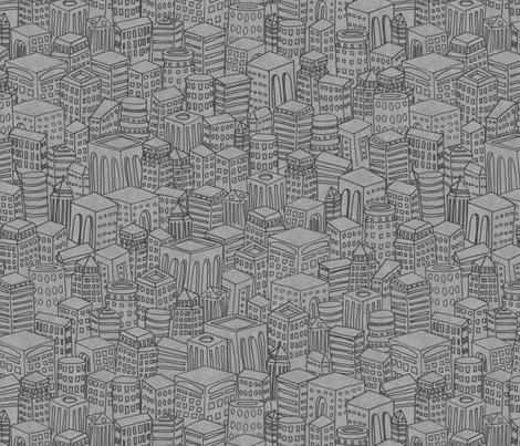 Floating Across the Tops of Cities (Concrete) fabric by leighr on Spoonflower - custom fabric