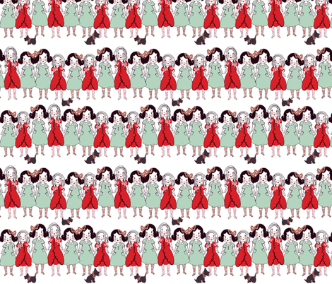 paper dolls fabric by cillacrews on Spoonflower - custom fabric