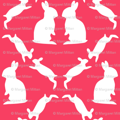 Hares, pink