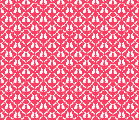 Hares, pink fabric by lab31 on Spoonflower - custom fabric
