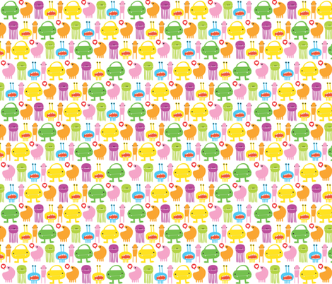 Monsters fabric by ankepanke on Spoonflower - custom fabric
