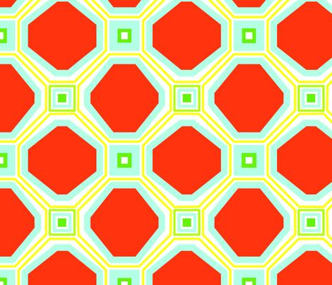 Retro Feel Lattice fabric by dolphinandcondor on Spoonflower - custom fabric