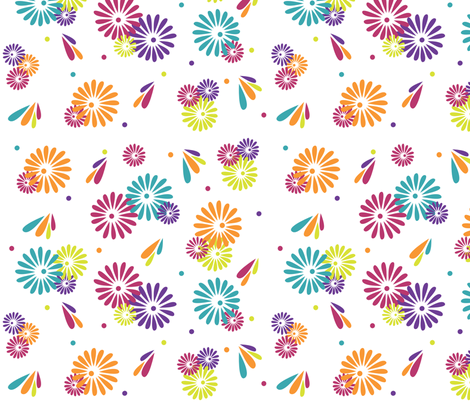 Flower_Shower_final fabric by designedtoat on Spoonflower - custom fabric