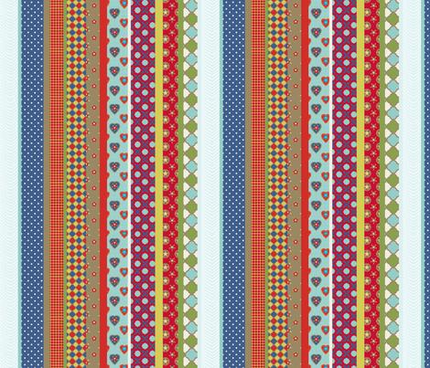 rayure_vintage_S fabric by nadja_petremand on Spoonflower - custom fabric