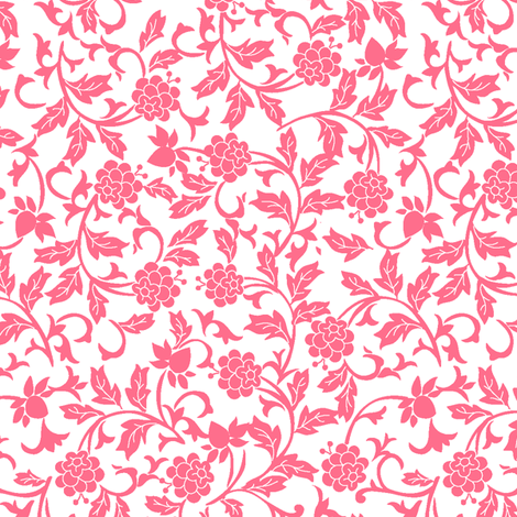 Scroll_Design_Floral fabric by thornbirds on Spoonflower - custom fabric