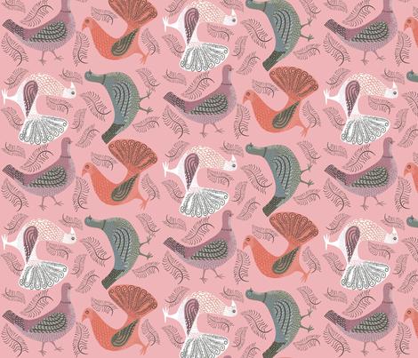 multitoss_pink fabric by antoniamanda on Spoonflower - custom fabric