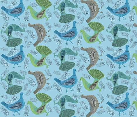 multitoss_blue fabric by antoniamanda on Spoonflower - custom fabric
