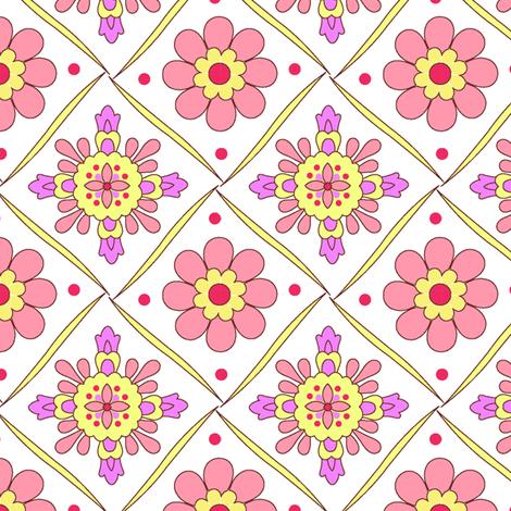 Diamond_Flower fabric by thornbirds on Spoonflower - custom fabric