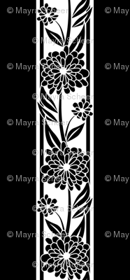 Spanish_Floral_Stripe_BLACKWHITE