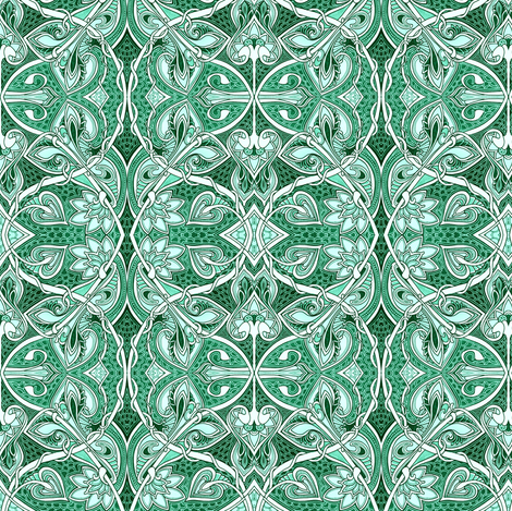 Twisted in Teal fabric by edsel2084 on Spoonflower - custom fabric