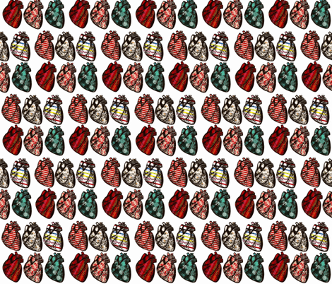 Anatomical Hearts fabric by thesincerescissors on Spoonflower - custom fabric