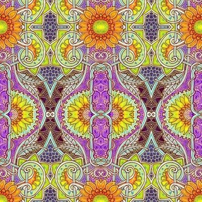 Sunflower Batik Peek A Boo (violet)