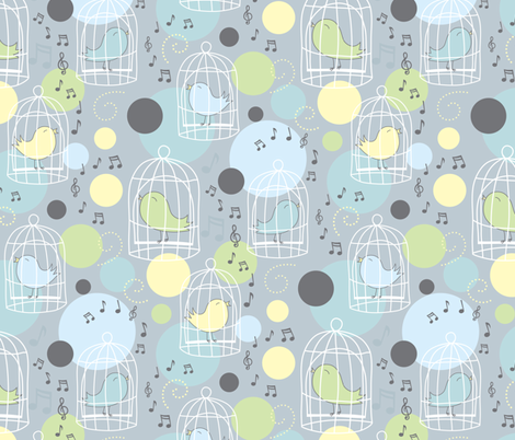 Hope is the Thing with Feathers fabric by jennartdesigns on Spoonflower - custom fabric