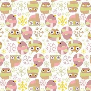 Birds and Owls in the Snow (Small)