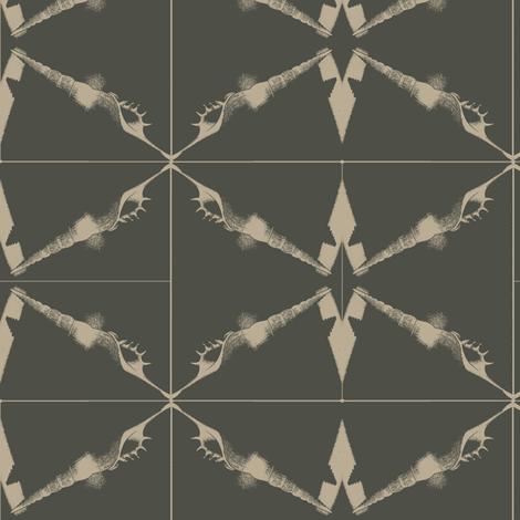 Shell Shapes fabric by nalo_hopkinson on Spoonflower - custom fabric