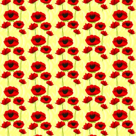 Poppies in Spring fabric by ninjaauntsdesigns on Spoonflower - custom fabric