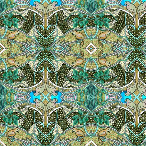 Oiseau Paradis fabric by edsel2084 on Spoonflower - custom fabric