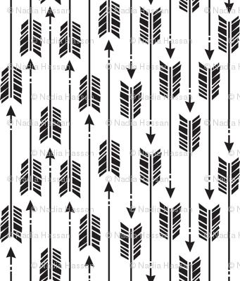 Small Arrows: Black on White