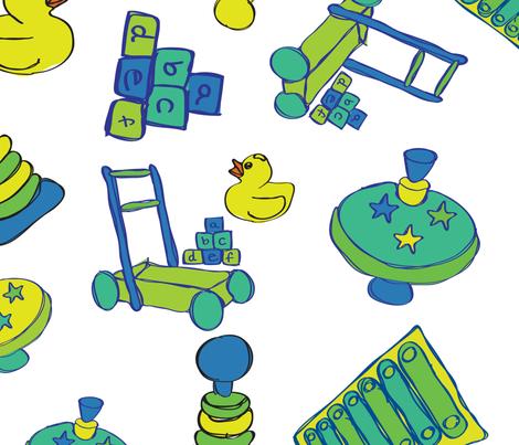 Baby boy  fabric by jlwillustration on Spoonflower - custom fabric